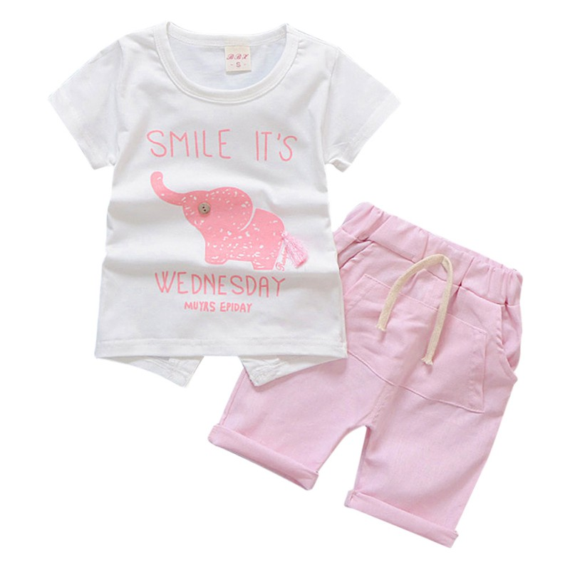f485eb2bf0aa1 Baby Boy Clothes 2018 Summer Brand Infant Clothing Elephant Short Sleeved T  shirts Tops Striped Pants Kids Bebes Jogging Suits-in Clothing Sets from  Mother ...