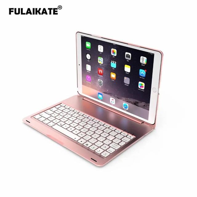 FULAIKATE For Apple iPad Pro 11 inch Foldable Bluetooth Wireless Keyboard 78 Keys Drop Protection Funda Aluminum ClamFunda Case