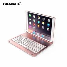 FULAIKATE Funda de aluminio plegable para iPad Pro de 11 pulgadas, teclado inalámbrico con Bluetooth, 78 teclas, protección contra caídas