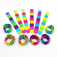 Jiangzimei 24pcs New styles Unicorn Leopard, Point, Zebra, Wool Silicone Bracelet for Kid Children boys girls party gift