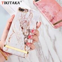 Чехол для телефона с принтом из розового золота и мрамора для iphone XS Max XR, Твердый чехол из поликарбоната для iphone X, 6, 6 s, 7, 8 Plus, чехол