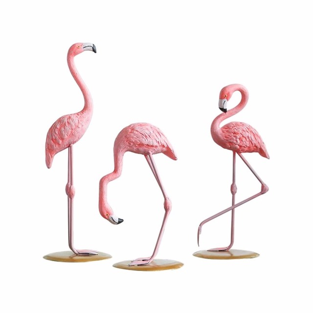 Home 1 Piece Resin Pink Flamingo Decor Figure For Girl Ins Hot Gifts