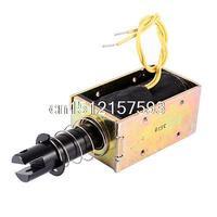DC 24V 0 8A 5 1N Force 20mm Stroke Pull Type Open Frame Solenoid Electromagnet