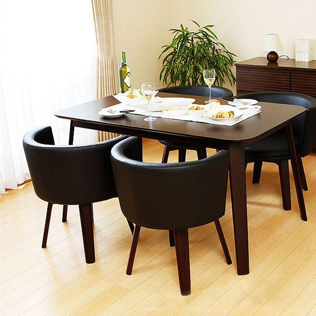 Us 979 0 Cafe Restaurant Wood Dining Table Four Chairs Combination Of Small Size Table And Two Chairs Combination Furniture In Nail Tables From