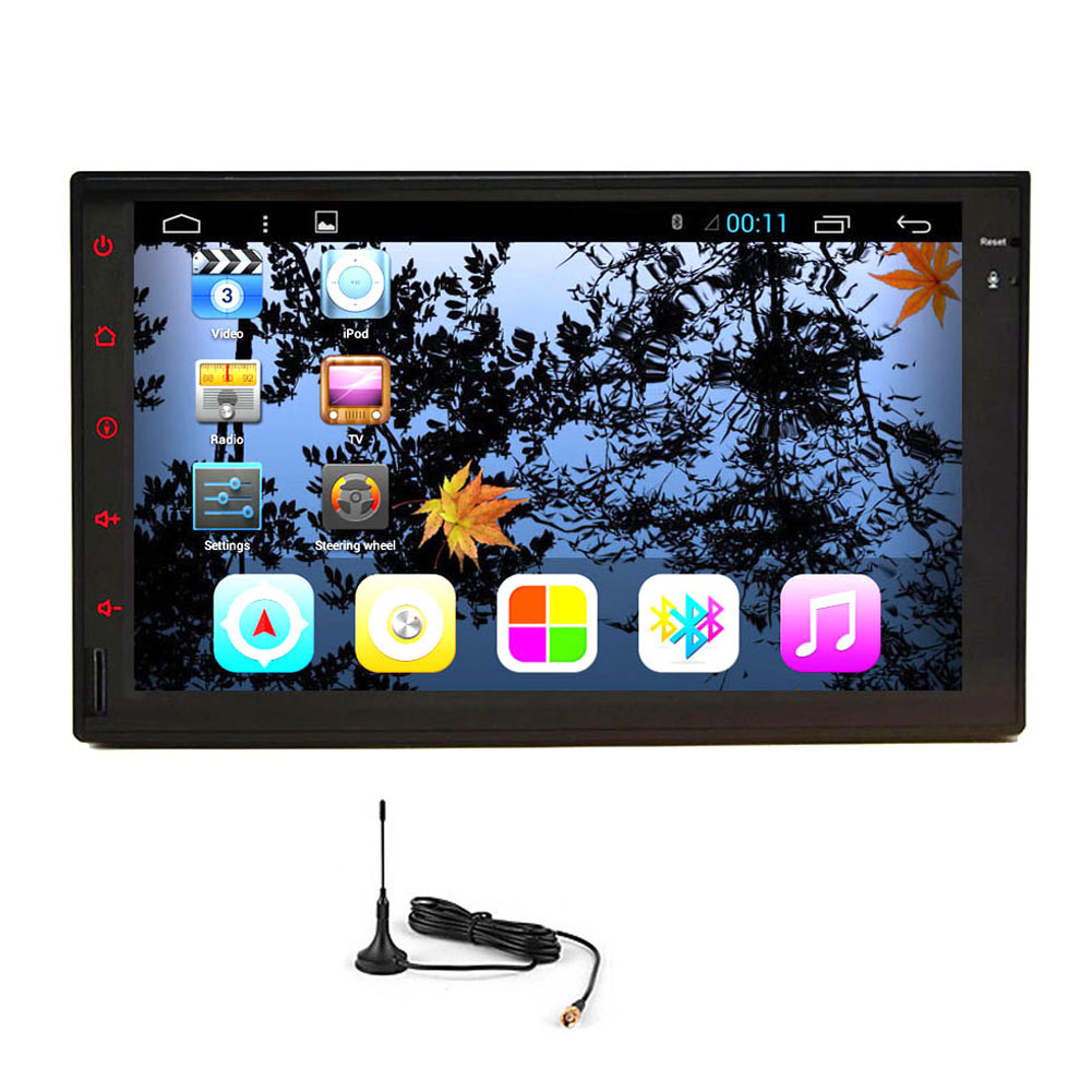 Music Android 5.1 PC Radio In Dash System Receiver USB Auto WiFi Audio GPS Car Stereo APP Video 2 din No-DVD Player
