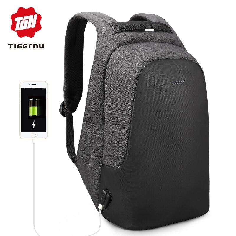 Tigernu marque homme femme anti vol sac à dos pour 15.6 ordinateur portable décontracté voyage sacs à dos imperméables cartable pour les adolescents garçons filles