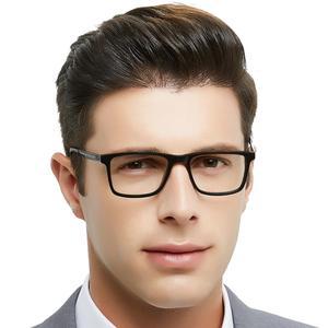Image 3 - OCCI CHIARI di Alta Qualità Nero Occhiali Da Vista In Metallo Acetato Mens Eyewear Cerniera A Molla Occhiali Ottici Telaio Per Gli Uomini W CARA
