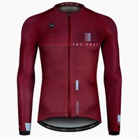 NEW ARRIVE LONG SLEEVE JERSEY CX PRO SN BURGUNDY for 18 C to 30 degree Ultralight race and highly breathable cycling jersey