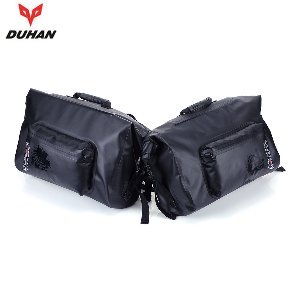 DUHAN Motorcycle Bag Waterproof Saddle Bags Riding Travel Luggage Moto Racing Tool Tail Bags black Multifunction Side Bag 1 pair motorcycle rear bag black d tail alforjas para saddle bags tail bag ogio