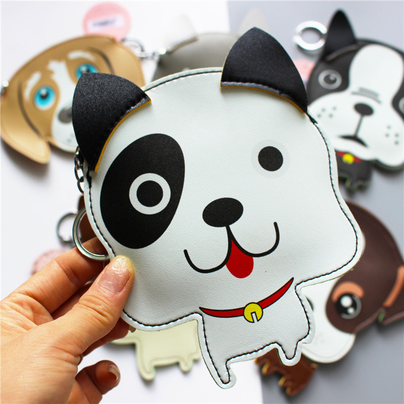 2018 Hot Sale Cute Dog University Cartoon Coin Wallets Children Money Purses Women Mini Storage Bags Mini- Key Ring hot sale cartoon coin purses children plush mini bags female coin bag women zipper character wallets