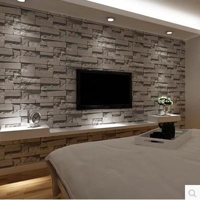 ФОТО 3 d  restoring ancient ways of Chinese style imitation brick grain brick wall paper bedroom living room TV setting store brick