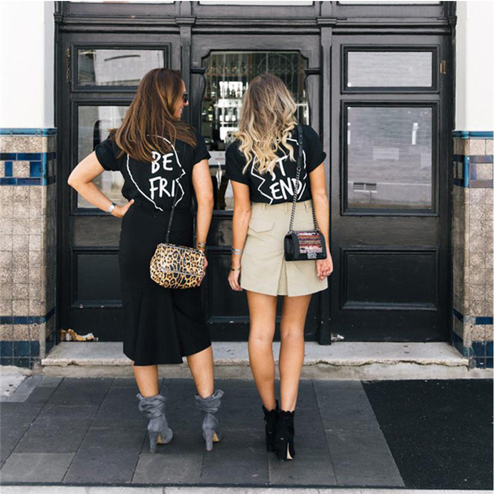 Best Friends T Shirt Women Kyliejenner Fashion Vegan Tumblr Harajuku