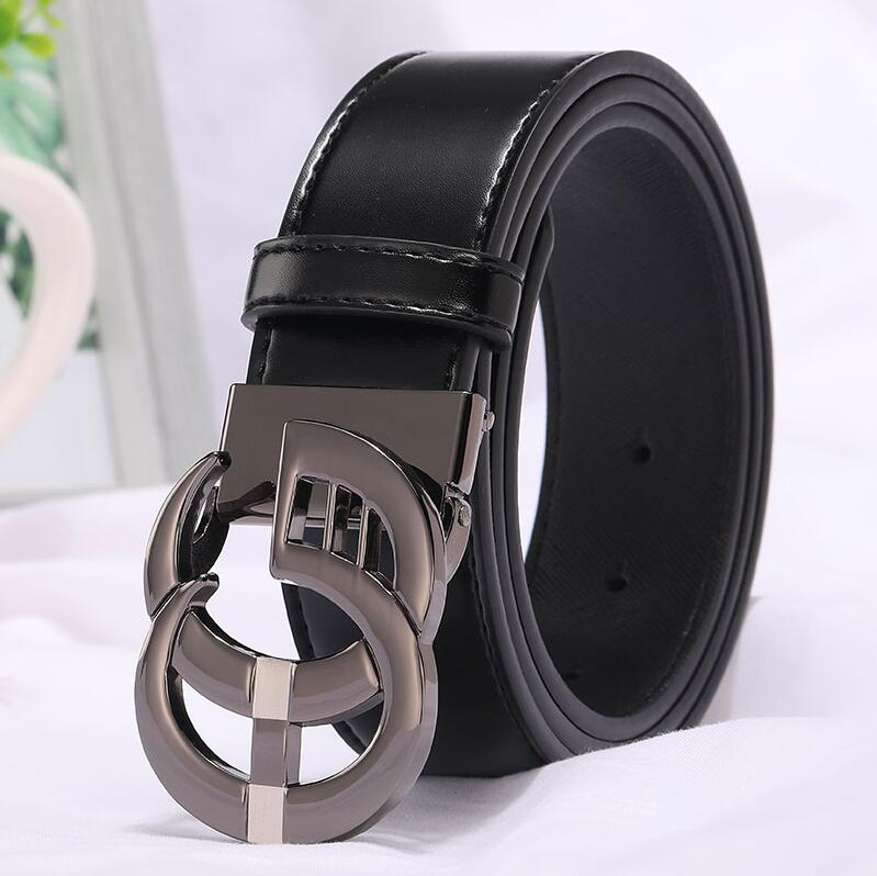 Image 5 - 2019 New Fashion Style Real cowhide man women leather leisure belt smooth  Gold Silver black buckle fashion popular lady straps-in Men's Belts from Apparel Accessories