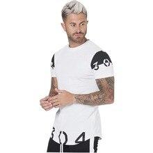Cotton Men s T Shirt black and white Round neck t shirt fitness clothing t shirt