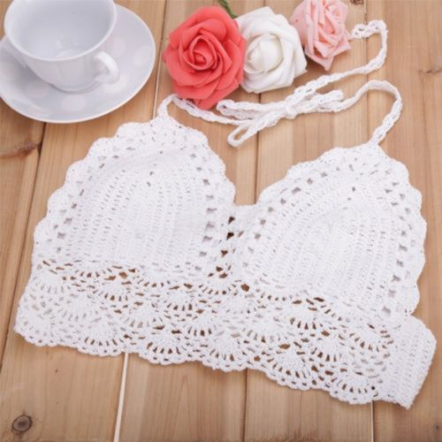 ITFABS Newest Arrivals Fashion Hot Sexy Women Crochet Boho Casual Backless Solid Tank Summer Beach Hollow Out Cami Crop Sexy Top
