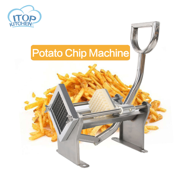 French Fry Cutting Machine Chips Potato Cutter Stainless Steel Vegetable Apple +3 Blades Fast Delivery