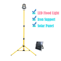 LED Solar Power Flood Light With Support 10W COB LED Perfect Quality Outdoor Portable Lighting Solar
