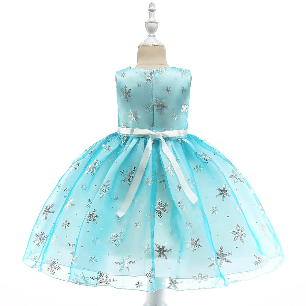 2d7b5552d Retail Kids Girl Summer Dresses For 3-8 Year Girls Snowflake Print Dresses  Children Girl