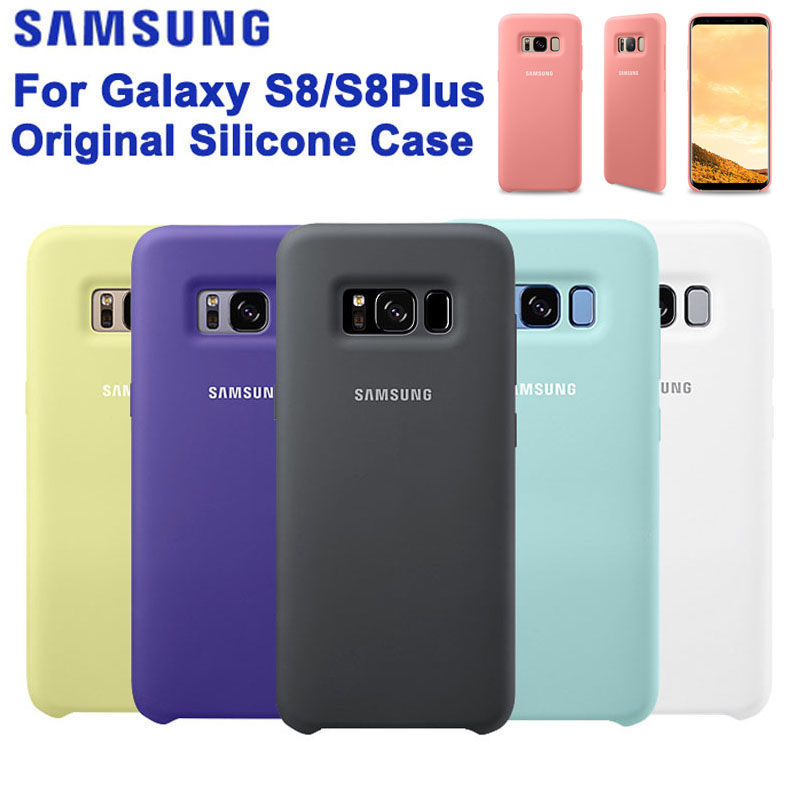 SAMSUNG Original Silicone Case Mobile font b Phone b font Cover for Samsung S8 S8plus S8