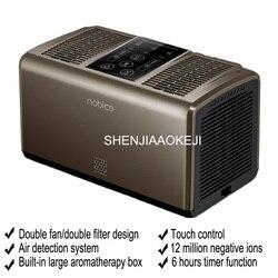 Małe oczyszczacz powietrza jonów ujemnych usunąć nieprzyjemny zapach dymu z drugiej ręki formaldehydu rozrządu dual core oczyszczacz powietrza 220 V 1 PC|Oczyszczacze powietrza|AGD -