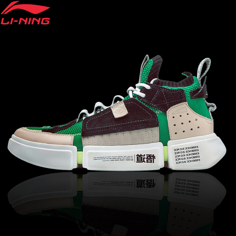 Li-Ning Men's ESSENCE 2 ACE NYFW Culture Shoes Sock-Like Sneakers Breathable Mono Yarn LiNing Sports Shoes AGWN041 XYL159