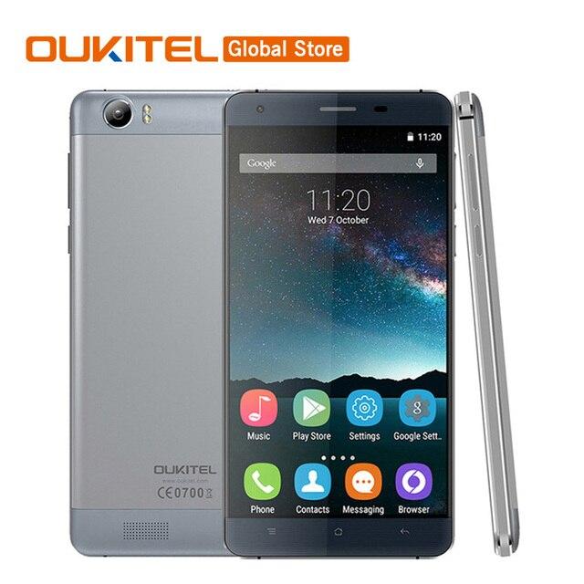 Original Oukitel K6000 4G LTE Mobile Phone MTK6735P Quad Core 1.0GHz Android 5.1 5.5''HD 2GB RAM 16GB ROM Dual SIM OTG 6000mAh