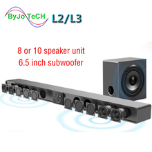 Amoi Series Soundbar wall pure wood speaker tv sound bar home theater Subwoofer Bluetooth 3D surround 12 horn Integrate