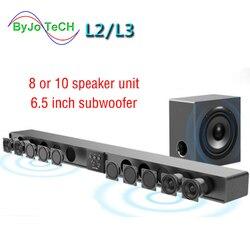 Barra de sonido serie Amoi, altavoz de pared de madera pura, barra de Sonido de TV, Subwoofer de cine en casa, Bluetooth, Sonido Envolvente 3D, 12 bocinas integradas