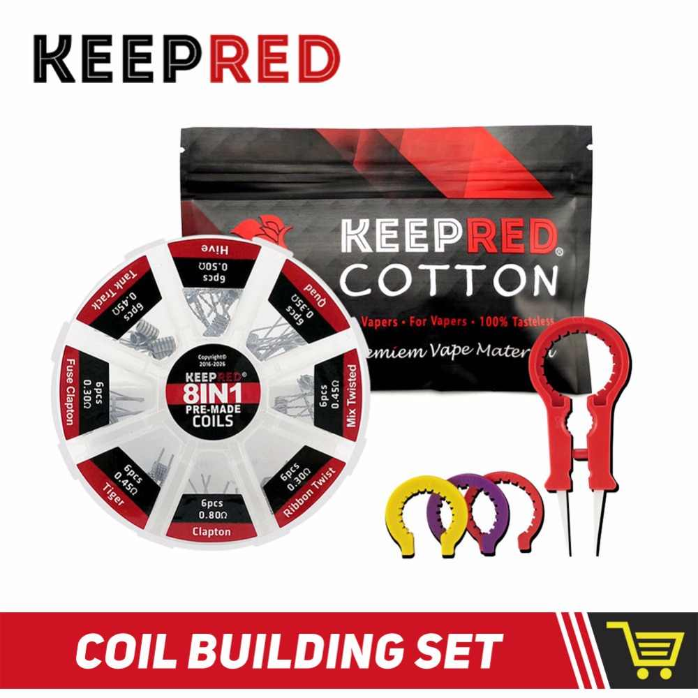KEEPRED 8 in 1 premade coils vape cotton Alien Fused Tiger Clapton Coil Mix  Twisted VS DEMON KILLER 8 IN 1 For RDA RTA Atomizer