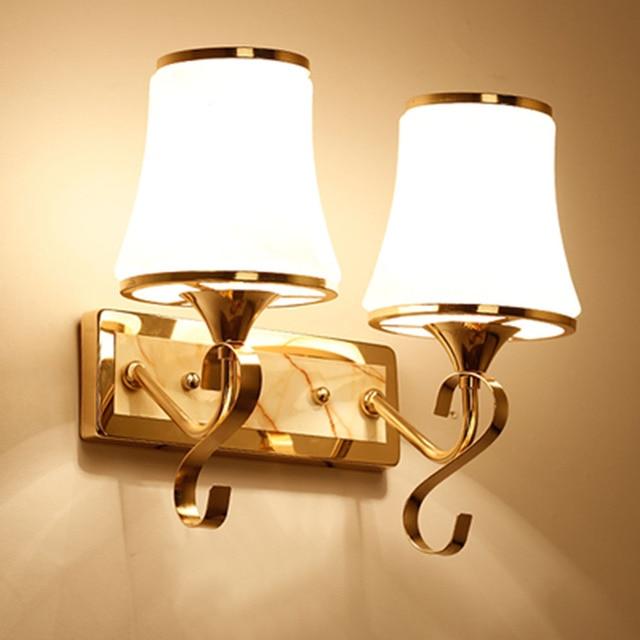 HGhomeart Glass Crystal Lamp Bedside Wall Lamp Led E27 110V 220V ...