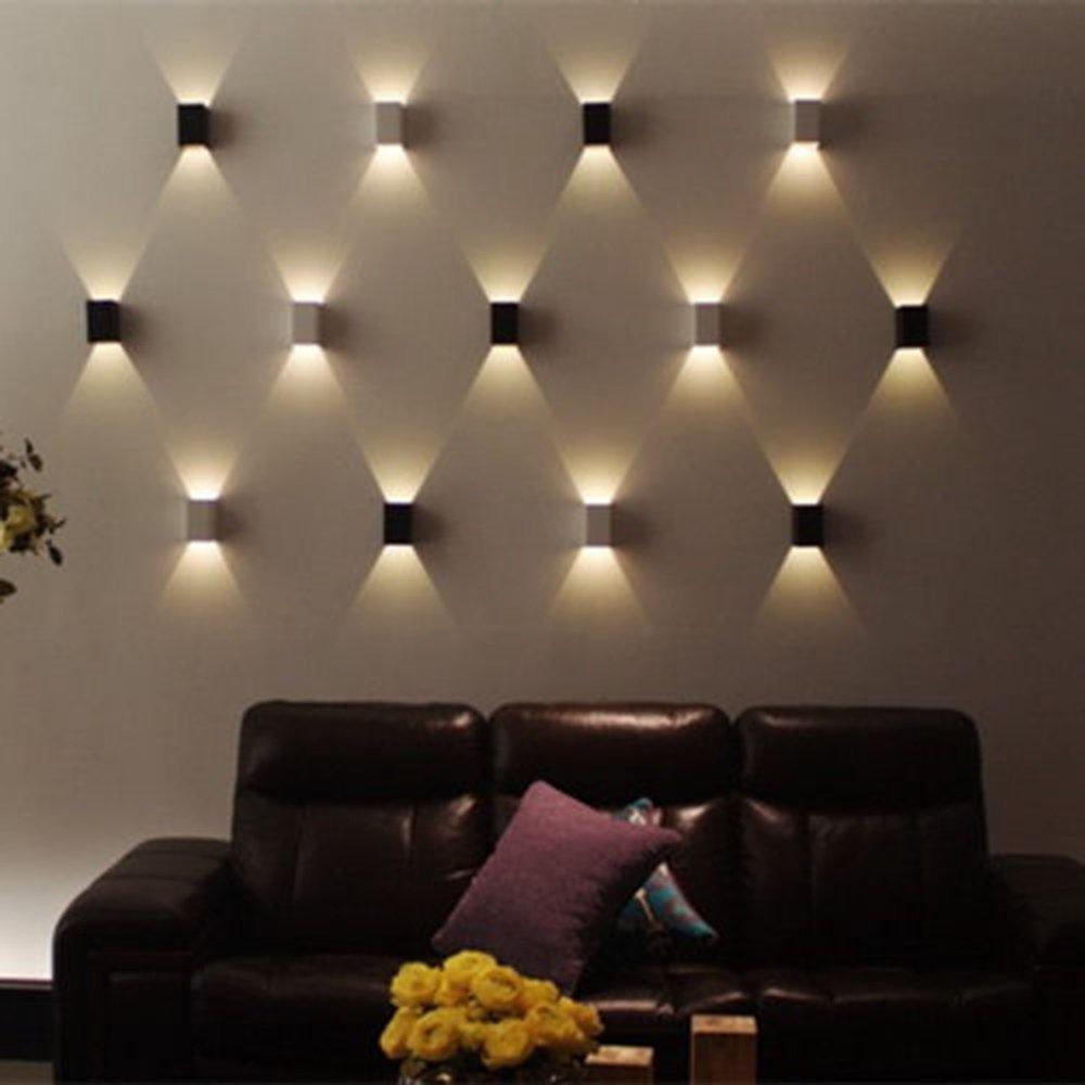 comprar w led de pared modernos apliques de pared de luz de la lmpara v cbico cuerpo hacia arriba hacia abajo rayo de iluminacin