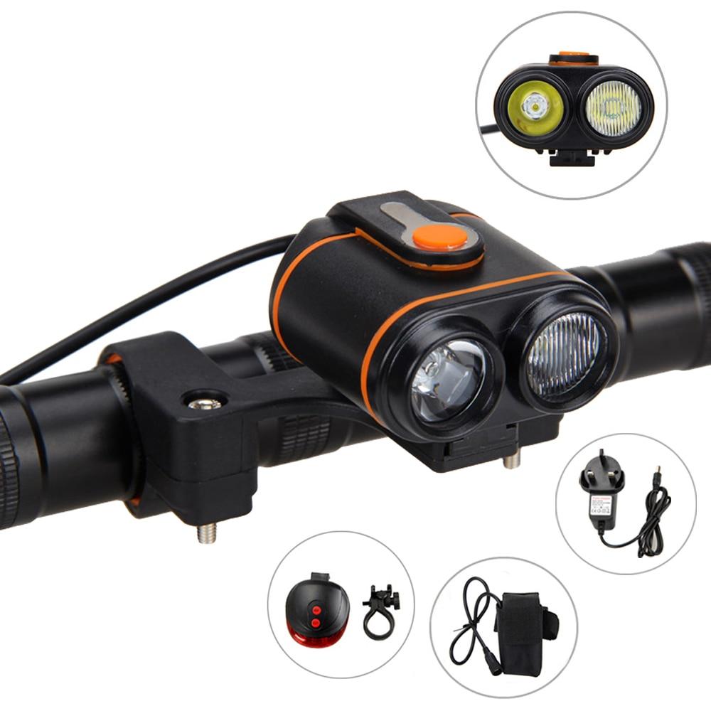 10000lm 2xxm l l2 led rechargeable bicycle light headlamp battery battery pack back rear light. Black Bedroom Furniture Sets. Home Design Ideas