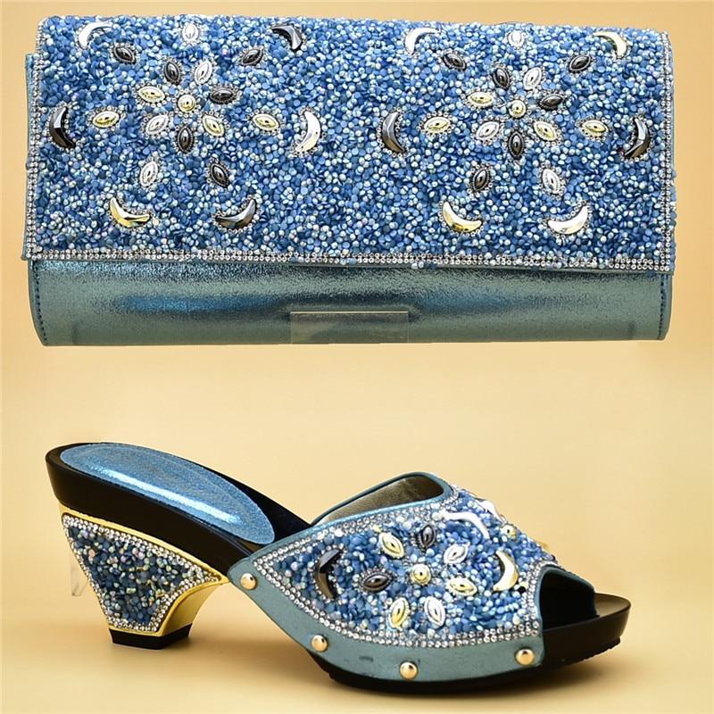Boda Bolsas azul Juego vino Partido A Bolsa Nuevos Italianos Cielo Tinto Con De Negro Y Mujeres oro Nigeriano Zapatos Las Para Mujer plata El FqwwxYvf