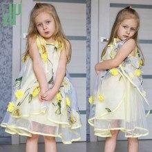 9a44c81c030 Robes pour enfants élégante demoiselle d honneur Floral été tutu robe fille  princesse costume plage enfants robes Vestidos 4 6 8.