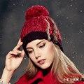 Kenmont Зима Женщины Ручной Вязки Шерсть Теплый Открытый Лыжный Шляпу Шапочка Cap 1617