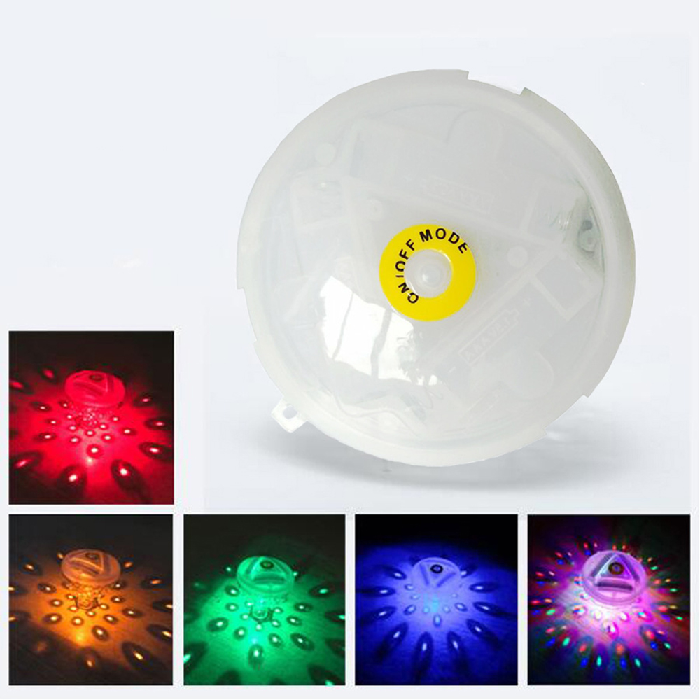 Colorful Bath LED Light Toys Floating Underwater LED Disco Light Glow Show Swimming Pool Tub Spa Lamp Outdoor Party Decor Lights