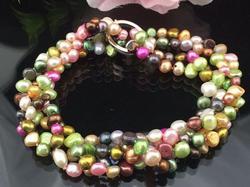 Collier et boucles d'oreilles en perles d'eau douce fait à la main, style Baroque, ensemble de bijoux, plusieurs couleurs au choix, nouvel arrivage