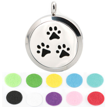 10pcs 30mm Dog font b Paw b font Aromatherapy Essential Oil surgical Stainless Steel Perfume Diffuser