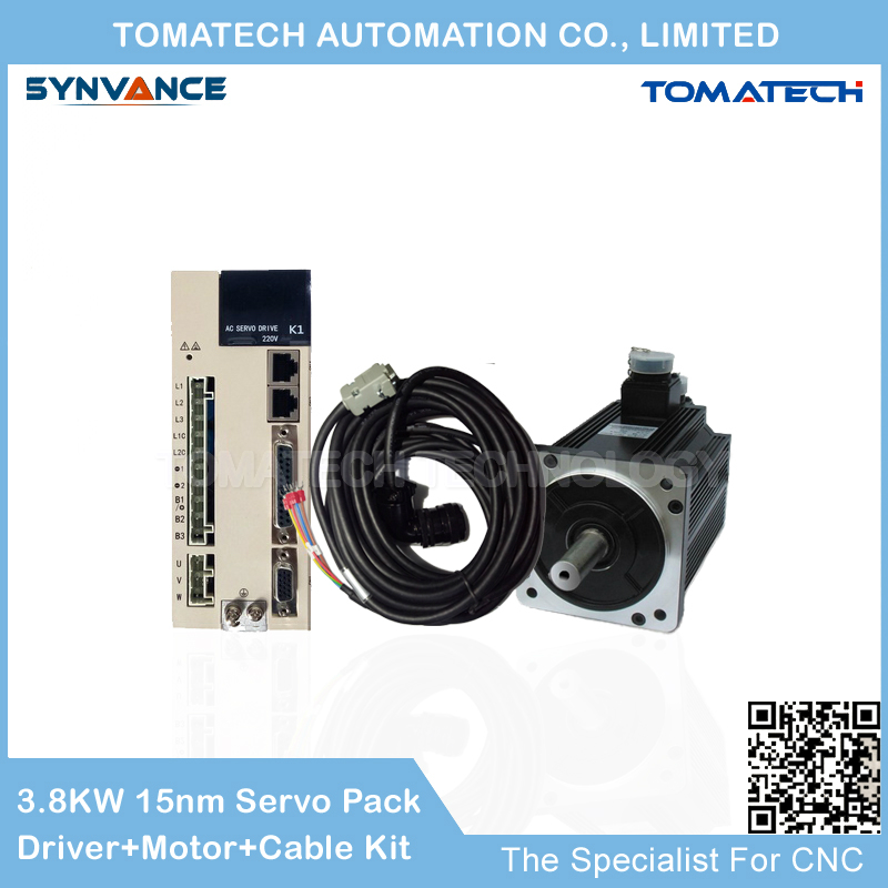 130mm frame 3 8KW 2500rpm 15nm 130ST M15025 servo motor and driver kits