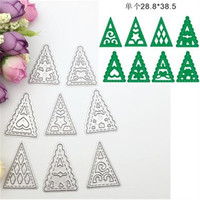8pcs Christmas Tree Shape Metal Embossing Cutting Dies Stencil For Scrapbooking Photo Album DIY Crafts Decorative