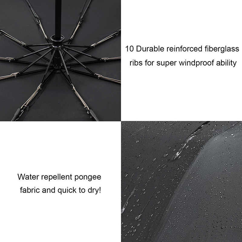 6134f3bd8 ... TOPX New Big Strong Fashion Windproof Umbrella Men Gentle 3Fold Compact  Fully Automatic Rain High Quality ...