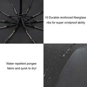 Image 4 - TOPX nowy duże silne moda Windproof parasol mężczyźni delikatne 3Fold kompaktowy w pełni automatyczny deszcz wysokiej jakości Pongee parasol kobiety