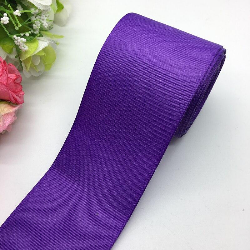 3 ярдов/партия 2 дюйма 50 мм широкий фиолетовая Поплиновая лента банты на голову свадебный DIY ремесла