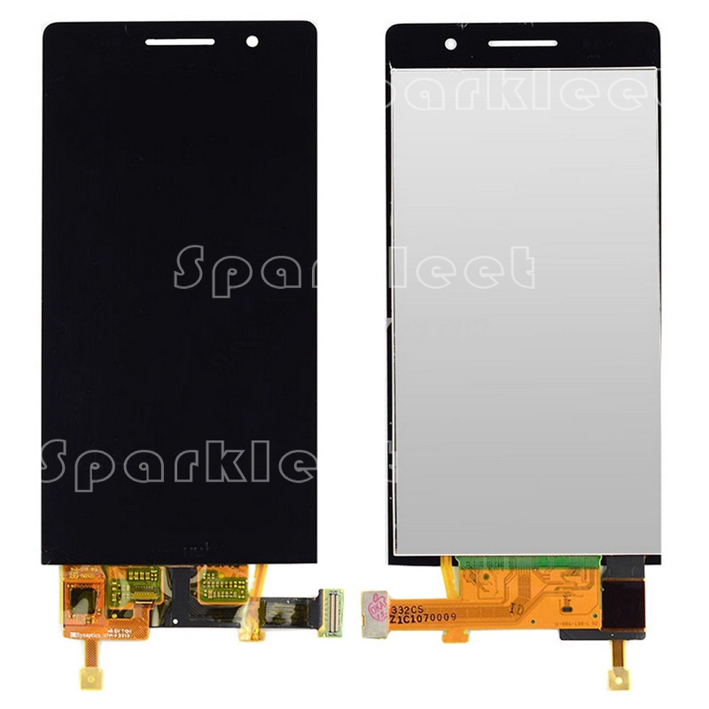 LCD Display Assembly For Huawei Ascend P6 with Touch Screen Mobile Phone Repair Parts Free Shipping