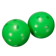 5Set Sale Wooden Bowling Ball Skittle Animal Shape Game For Kids Children Toy Green(China)