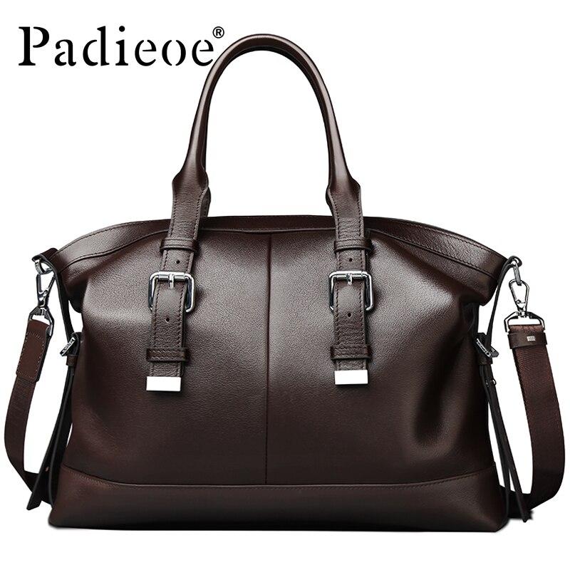 2016 Newest Design Vintage Style Mens Genuine Leather Briefcase Messenger Bag Business Shoulder Brand