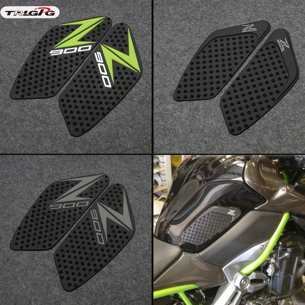 For Kawasaki Z900 2017 2018 2019 Motorcycle Tank Pad Protector Sticker Decal Gas Knee Grip Tank Traction Pad Side 3M