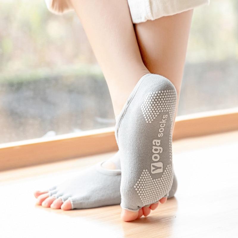 toe meias de yoga com apertos silicone