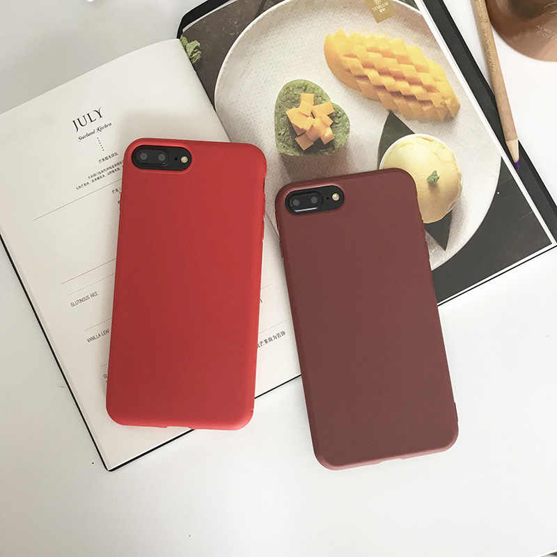 2019 Limited Rushed No for Iphone6 6s Plus X Xs Xr Xsmax Soft Tpu Silicone for Iphone 8 Back for 7 Cases Candy Full Cover