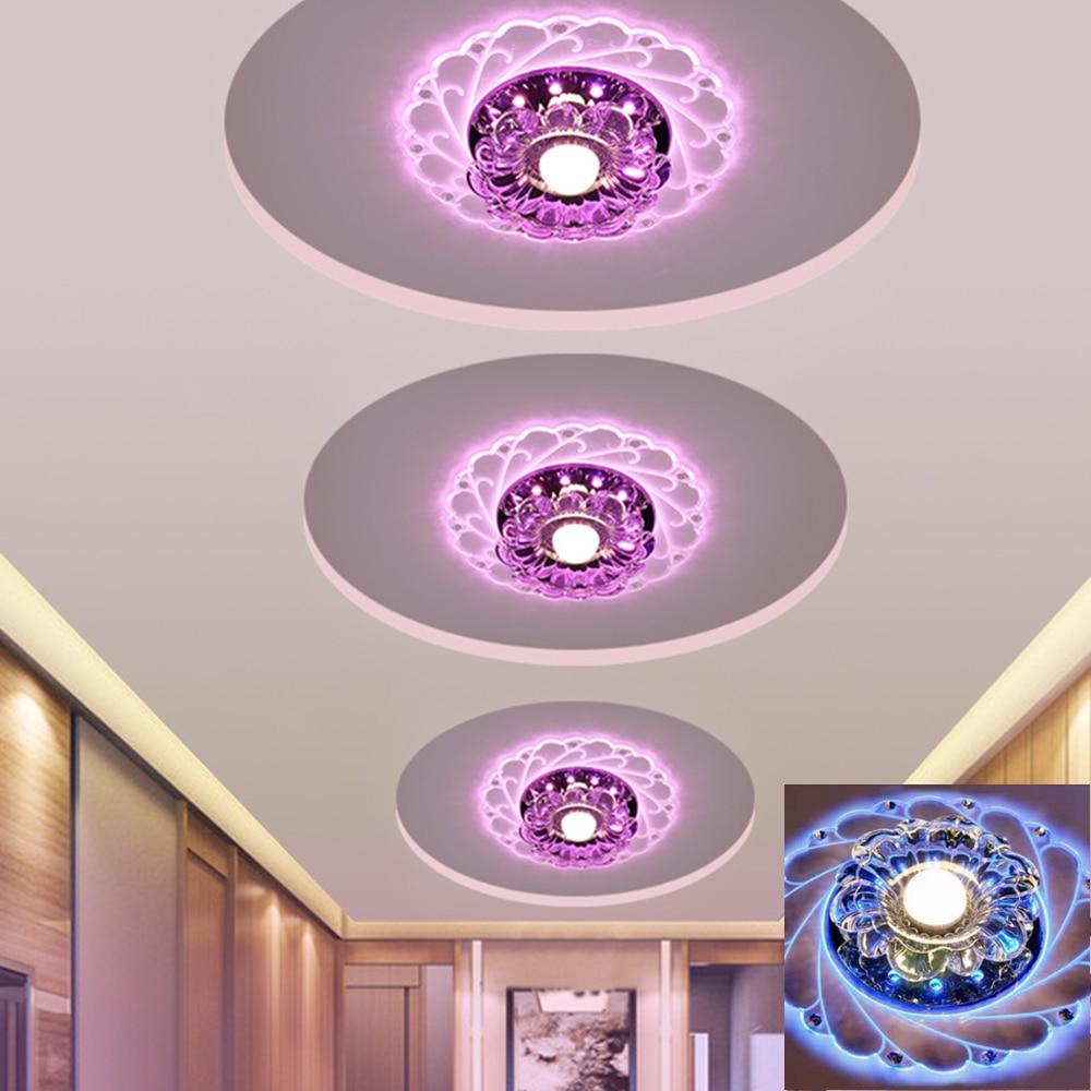 Modern Led Saving Efficient Ceiling Flower Light Warm White Blue